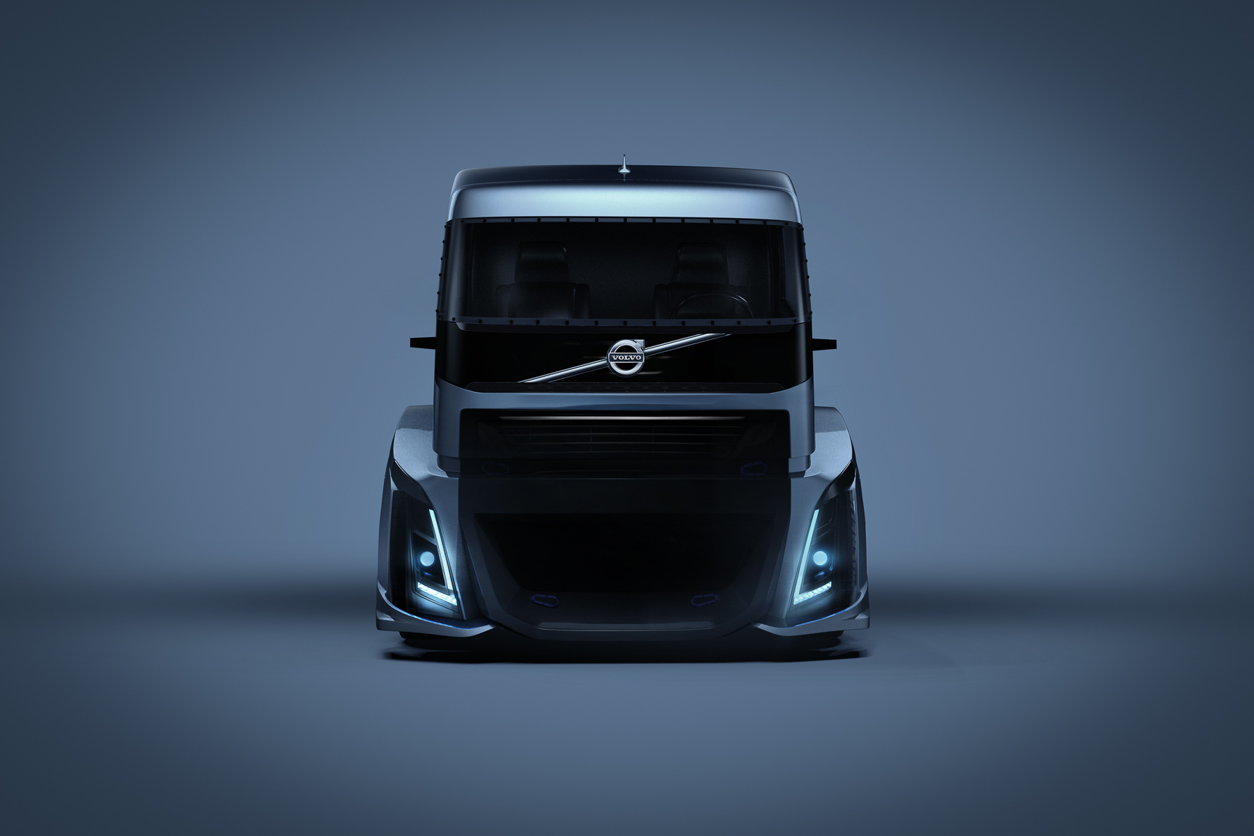 Volvo Truck photographed in studio