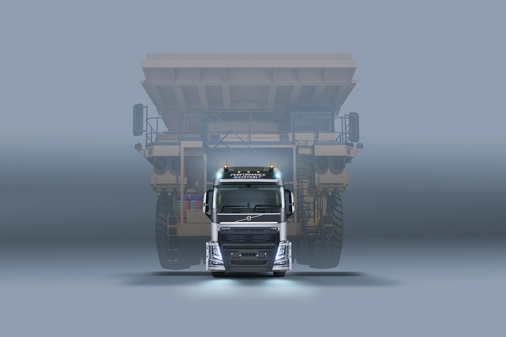 Volvo Truck FH with heavy haulage load