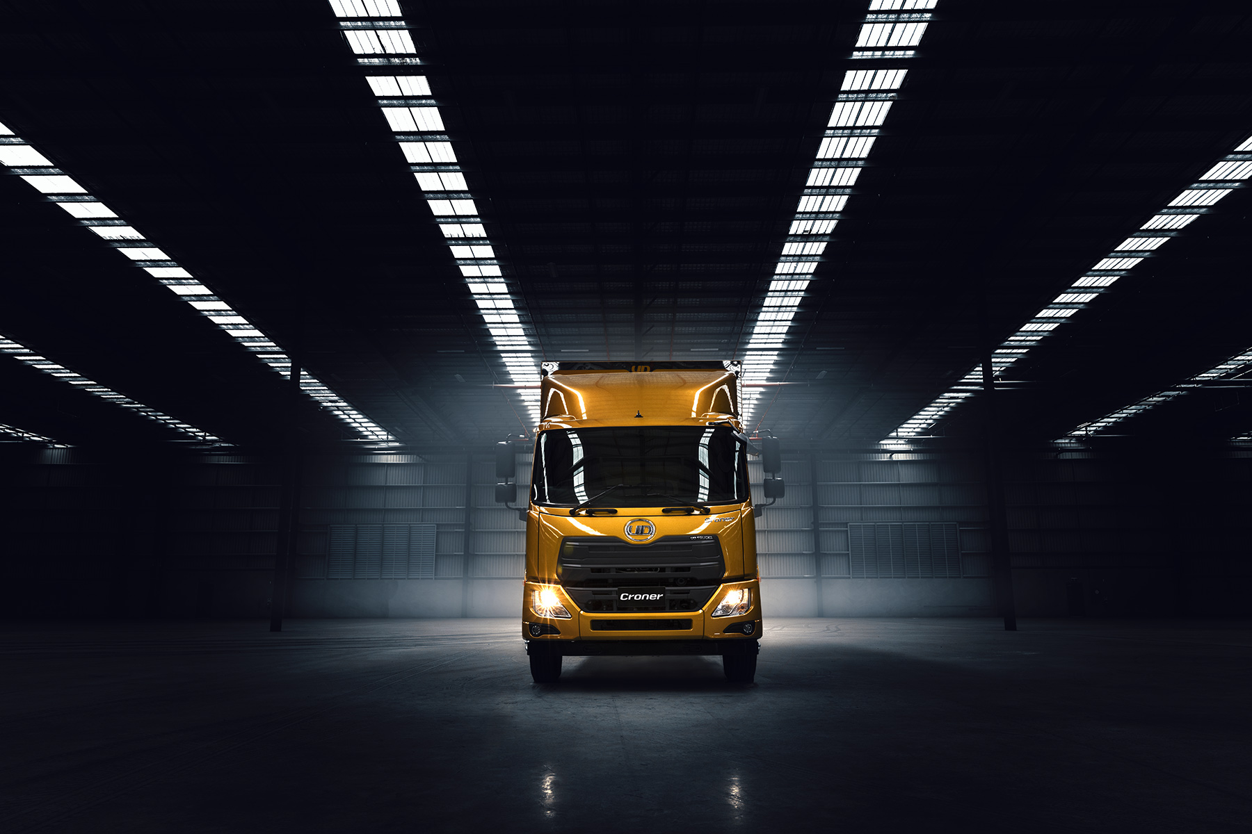 UD Trucks Quon in empty warehouse